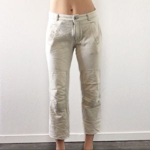 Urban Outfitters Popcorn Knit Crop Pants Straight